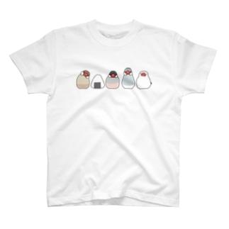 文鳥とおにぎり Tシャツ