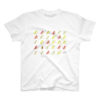 三角サンドいっぱい Tシャツ