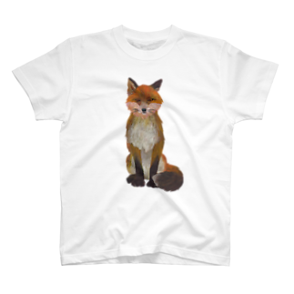 gomaphのふさ尾っぽキタキツネTシャツ