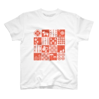 patchwork(pink) Tシャツ