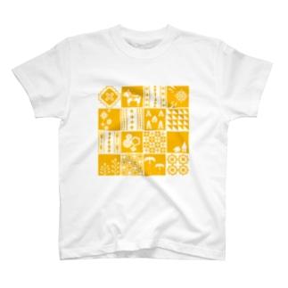 patchwork(yellow) Tシャツ