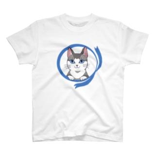 マーブルねこ(短毛) Tシャツ