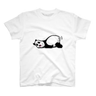 だるーいパンダ Tシャツ