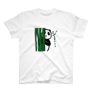 覗き見パンダ Tシャツ