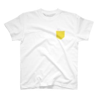 しろいるかポケット Tシャツ
