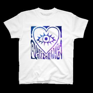 ユッチェ(仮)のTシャツ - H 宇宙(白地)Tシャツ