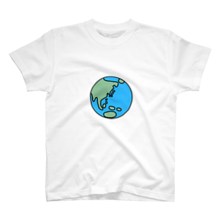 KIMAMALIFEの私たちの惑星Tシャツ