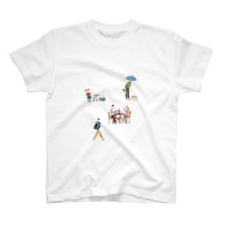 犬と生活 Tシャツ