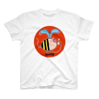 空飛ぶ子ブタのBeeTON Tシャツ