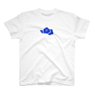 青い花 Tシャツ