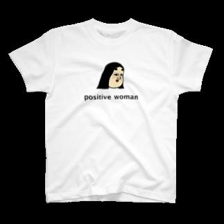 BUSONのショップのpositive woman 式部Tシャツ