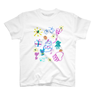橋本京子のおおきなケーキのおまつりTシャツ