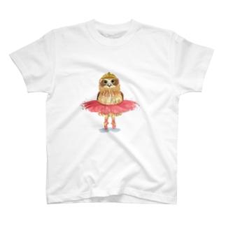 ミミズクのバレリーナグッズ Tシャツ