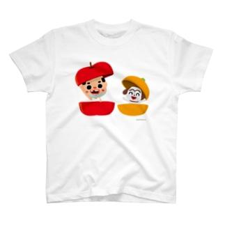 ちっちゃいおっさん(果物) Tシャツ