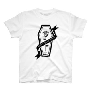 【MOON SIDE】Rose Coffin Ver.2 #Black Tシャツ