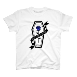 【MOON SIDE】Rose Coffin Ver.2 #Black Blue Tシャツ