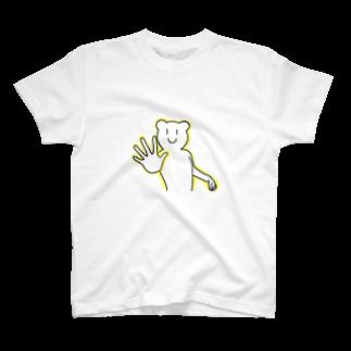 KIMAMALIFEのパワーがみなぎるくまさんTシャツ