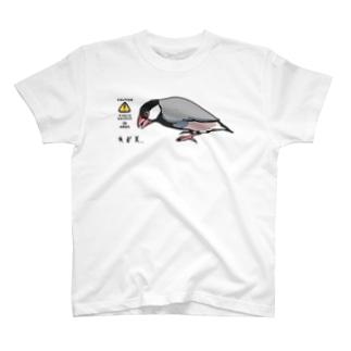文鳥サウルス Tシャツ