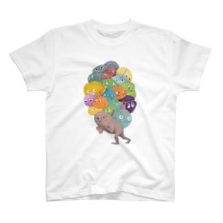 カラフルな荷物たち Tシャツ