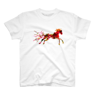 helocdesignのRed Horse Tシャツ