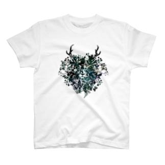 Flower Lion Tシャツ