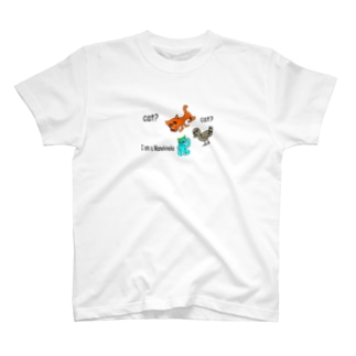 招き猫たち Tシャツ