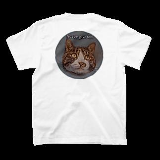 erumaのNever give up Run T-shirtsの裏面