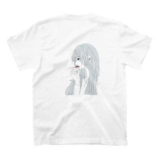 cigar(white)バックプリント T-Shirt