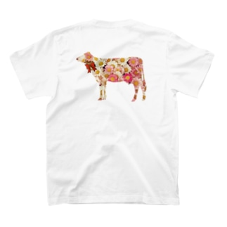 花柄T(バックプリント) T-shirts
