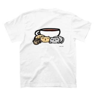 【ねこカフェの店員さん】おひるねティー T-shirts