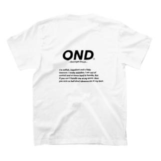 Back print T-shirts