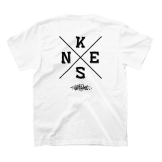 NEKS-ONE クロスロゴTシャツ(バックプリントBLK) T-shirts