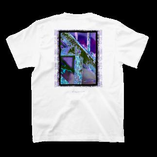Kazumichi Otsubo's Souvenir departmentの錆びて剥がれて灼熱 ~ パープル T-shirtsの裏面
