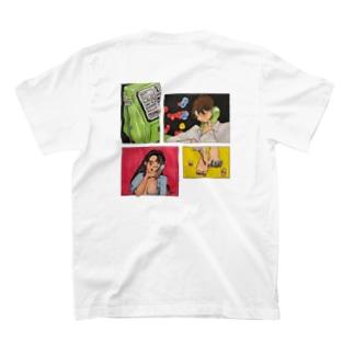 ミウのSAKI's custom T-shirtsの裏面