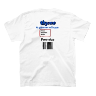 thyme タグデザイン T-shirts