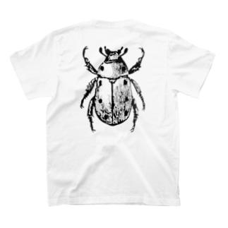 BIGコガネムシ(黒ver.)※前後プリントTシャツ T-shirts