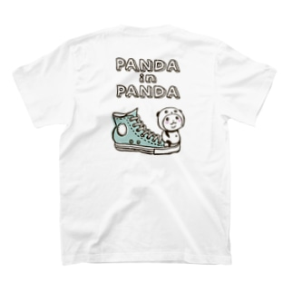 パンダinぱんだ(シューズ)※両面印刷 T-shirts