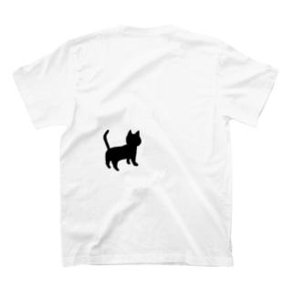 クロネコちゃん後ろ姿 T-shirts