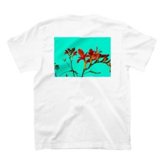 Crocosmia back print T T-shirts