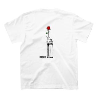 フラワーライター バックプリント T-shirts