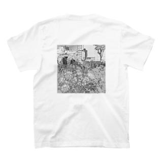人魚像と薔薇 T-shirts