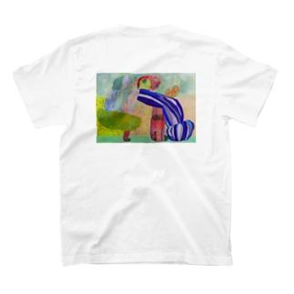 (back)のびのびどーう T-Shirt