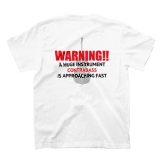 NO BASS, NO LIFE. (WARNING) T-shirts