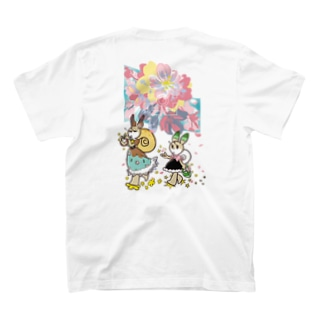 お花見メモリー 両面 T-shirts