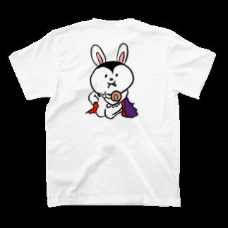 ドラキュラのうさぎのドラキュラのうさぎとカタツムリ T-shirts