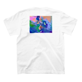 """猫-NNSS-2019""""art orange"""" T-shirts"""