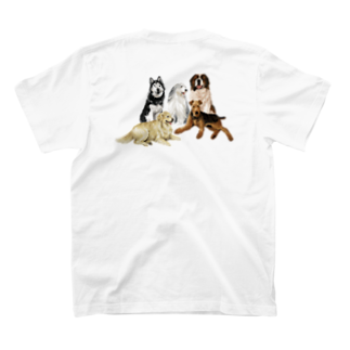 OOKIIINUの大きい犬たち T-shirtsの裏面