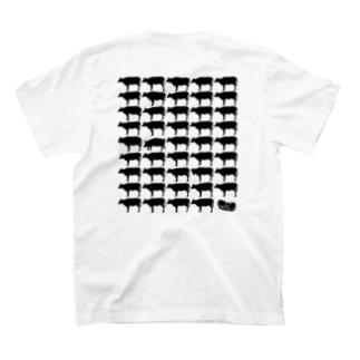 旨胃四牛(黒) T-shirts