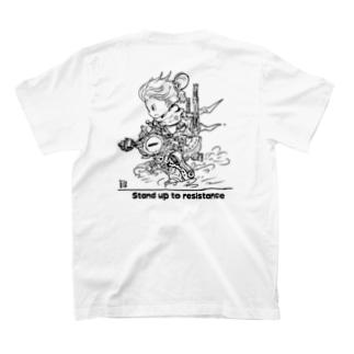 土器T バックプリント(モノクロ) T-shirts