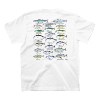 Scombrids(color) バックプリント T-shirts